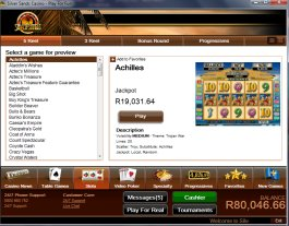 Play slot games at Silversands